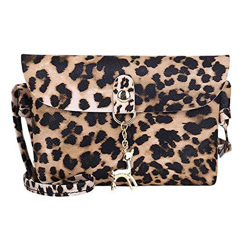 Rovinci Leopard Print Kleine Damentasche Umhängetasche Citytasche Schultertasche Handtasche Elegant Retro Vintage Tasche Hasp Crossbody Beuteltote Handtaschen Schultertasche Schulterbeutel