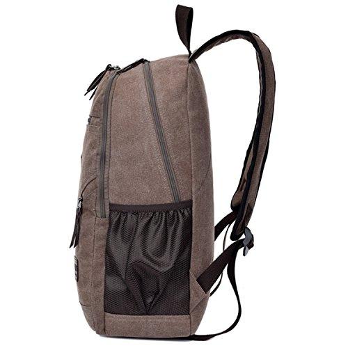 Outreo Herren Rucks?cke Canvas Schulrucksack Vintage Rucksack Schultaschen Weekender Daypack Sporttasche Reiserucksack Backpack Freitag Tasche f¨¹r Reisetasche Retro Bag Braun One