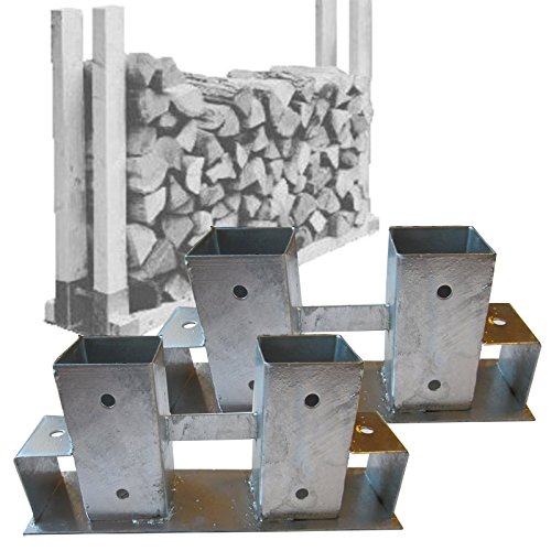 *2er Set Verbinder für Holzlager, Stapelhilfe Kaminholz Brennholz von Gartenpirat®*