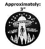 I Want to Leave patches Texte Mots Logo Thème espace et UFO Fans X-Files Série télévisée U-sky brodée patchs à coudre ou thermocollant Patch par Athena marques