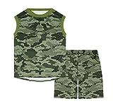 Estampado militar Lote de 2 piezas Pantalones cortos y camiseta de manga corta, Niño (4...