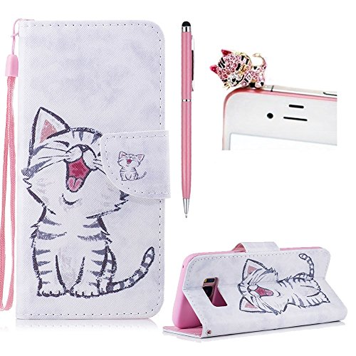 Price comparison product image For Samsung Galaxy S8 Flip Wallet Leather Case, For Samsung Galaxy S8 Cute Pattern Design Case