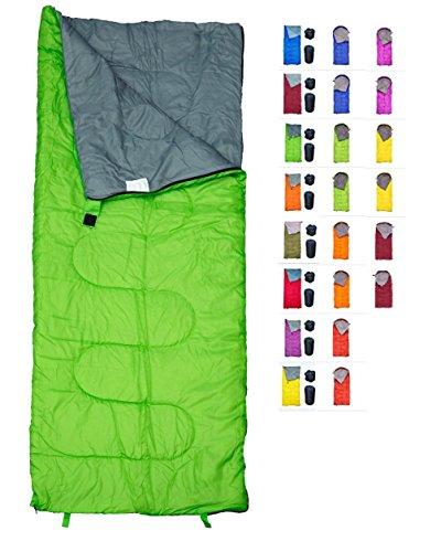 RevalCamp Grün Schlafsack für Drinnen & Draußen. Toll für Kinder, Jungen, Mädchen, Jugendliche & Erwachsene. Ultraleichte und Kompakte Schlafsäcke sind ideal zum Wandern, Rucksackwandern & Camping