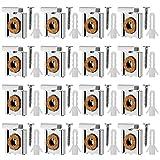 Corrines 4 Set (20 Stück) Federbelastete Spiegelaufhängung Clips Set mit Schrauben Ungerahmte Spiegelhalterung Spiegelhalter Clip mit Rawl Plugs.