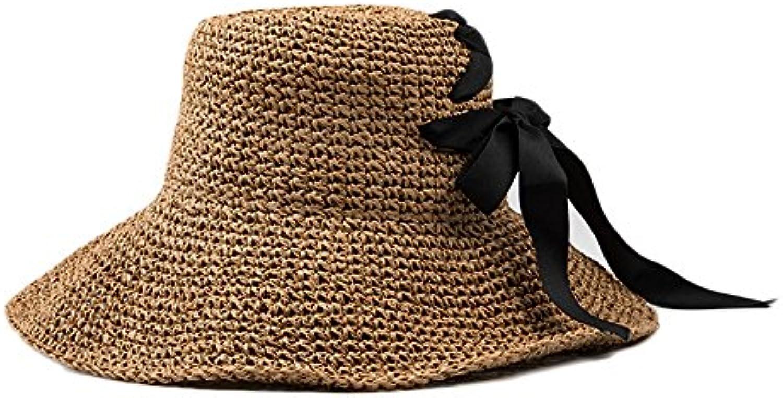 Shuo lan hu wai Cappello da Sole Donna Estivo da Donna Sole Realizzato a  Mano con Cappello di Paglia (Coloreee Marronee) Parent 877611 c5deabf949e6