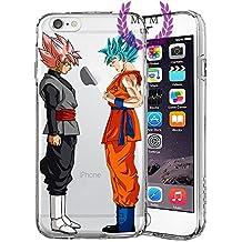 Dragon Ball Z Super GT Protectores de iPhone Case Cover - Único Diseños más recientes - Todos los modelos de iPhone - A estrenar - La más alta calidad - Muchos diseños - Tournament Of Power - Goku Black Rose - Goku Blue - Gohan - Jiren - Vegeta Blue - DBS - DBZ - DBGT - MIM UK (iPhone 6/6s, Rose Vs Blue)