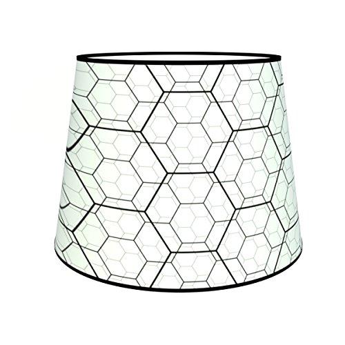 Abat-jours 7111306822920 Conique Karo Lampadaire, Tissus/PVC, Multicolore