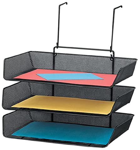 Fellowes Mesh Partition Additions Triple Tray, Side Load, Letter Size,