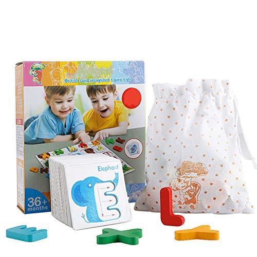 Kinder Intelligenz Spielzeug Früherziehung Anerkennung Alphabet Tiere Anerkennung Karten Puzzle Logik Denken Spielzeug für Weihnachten Geburtstag