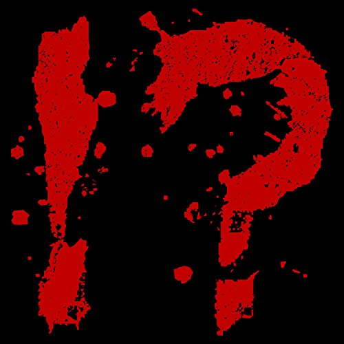 Fashionalarm Herren T-Shirt - Blood Splatter Fragezeichen | Fun Shirt mit blutigem Motiv für Zombie & Horror Fans Schwarz
