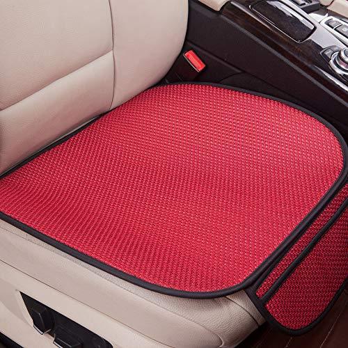 GLITZFAS Auto Sitzauflage Autositzauflage Universal Sommer Autositzbezug Auto Vordersitz Rücksitz Kissen (Vordersitz,Rot)