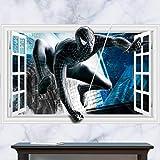 JUNMAONO Spiderman Wandaufkleber/Abnehmbare Wandbild Aufkleber/Wandgemälde/Wand Poster/Wandbild Aufkleber/Wandbilder/Wandtattoo/Pinupbild/Beschriftung/Pad einfügen/Tapete/Tapezieren/Tapeten/Wand Zeitung/Wandmalerei Haftnotiz/Fühlen Sie sich frei zu kleben/Instant Aufkleber/3D-Stereo-Wandaufkleber (-2)