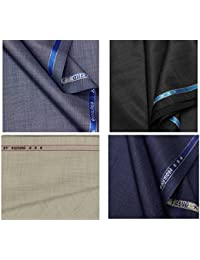 Raymond Men's Unstitched Trouser Fabric Multicolour_1.25 M - Pack of 4