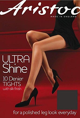Aristoc 10 Denier Strumpfhose Ultra Shine - Extra Large - Vage Schwarz