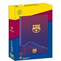 FC Barcelona Corporativa - Set con un cuaderno, un estuche y una carpeta, 280 x 60 x 350 mm
