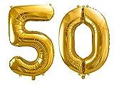 SiDeSo Folienballon XXL GOLD Heliumgeeignet Party Geburtstag Jahrestag Hochzeitstag Jubiläum...