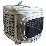 Haustier Hartschalen Transportbox - Faltbare Haustier Tasche für Katze, Kleine Hunde & Hasen von Pet Magasin