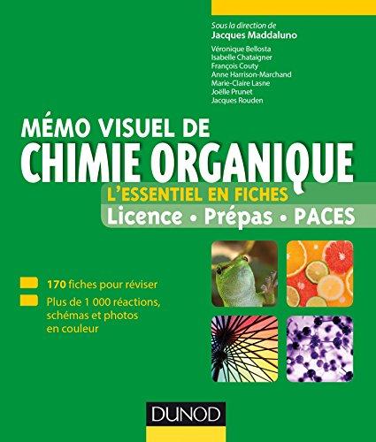 Mémo visuel de chimie organique - L'essentiel en fiches