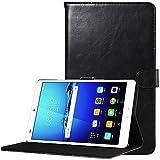 CLM-Tech Huawei MediaPad M3 8.4 Tablet Tasche im eleganten Kunstleder für Huawei MediaPad M3 8.4 (8.4 Zoll) Hülle mit Standfunktion schwarz