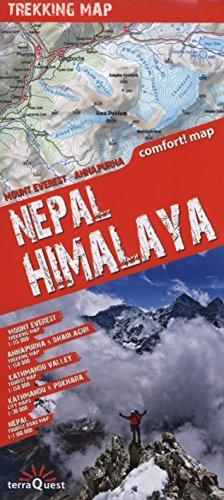 Himalaya Nepalí, mapa excursionista plastificado. Escala 1:100.000. TerraQuest. (Trekking map) por VV.AA.