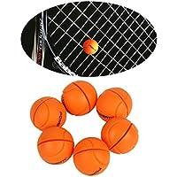 Andux 6pcs / set Amortiguadores de la vibración de la raqueta de tenis amortiguadores de choque del silicón Amortiguadores de la secuencia del tenis amortiguación BZQ-02 (naranja)