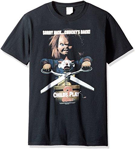 Child's Play Herren T-Shirt Chuckys Back, Schwarz - Schwarz - X-Groß