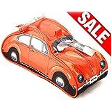 Volkswagen Escarabajo Neceser Washbag–Estampado, Naranja, 100% poliéster, con compartimentos interiores.