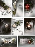 50 Trauerkarten 8 Motive Grußkarten Kondolenz Trauer Beileid 81-1670