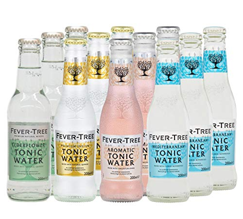 Fever-Tree Set Tonic Water, 3 x Mediterranean, 3 x Premium Indian, 3 x Aromatic, 3 x Elderflower (12 Flaschen Mix)