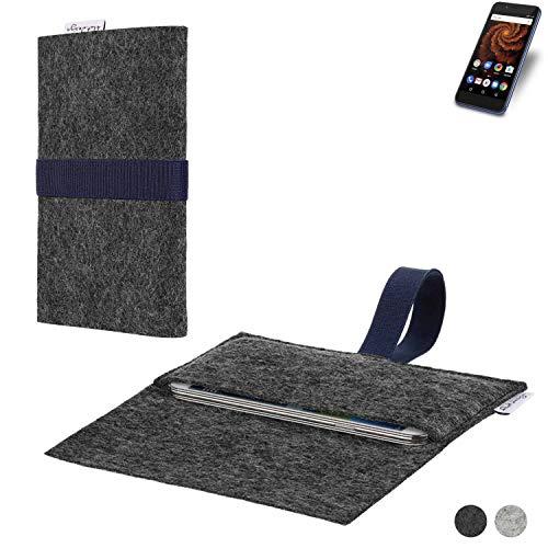 flat.design Handy Hülle Aveiro für Allview X4 Soul Mini S passgenaue Filz Tasche Case Sleeve Made in Germany