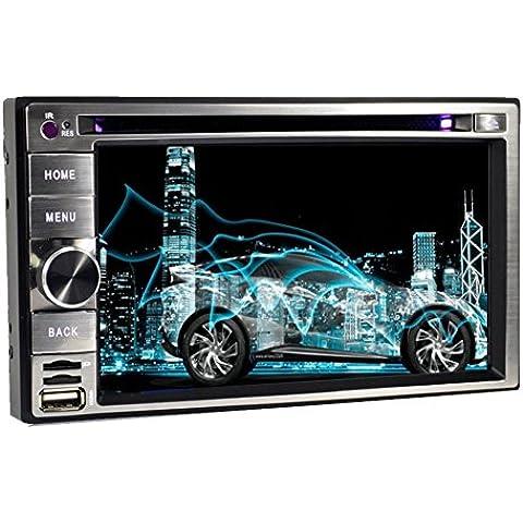 ¨²ltima Android 5.1.1 Sistema de 6.2 pulgadas Doble Din en el tablero de pantalla del GPS del coche del jugador est¨¦reo Autoradio DVD para el coche LCD t¨¢ctil de Bluetooth de navegaci¨®n GPS para la unidad principal del coche