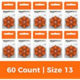 AmazonBasics 1.5 Volt Hearing Aid Batteries - Pack of 60, Size 13