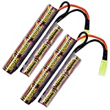 melasta 2pack 2 / 3A 8.4V Airsoft Batterie 1600mAh NIMH Butterfly Nunchuck Batterie...