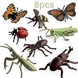 ForceSthrength 8 stücke Simulation Insekt Modell Tierfigur Dekoration Figur Kinder Spielzeug