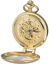 KS KSP062 - Reloj de Bolsillo Mecánico de Cuerda Manual, Caja Dorada