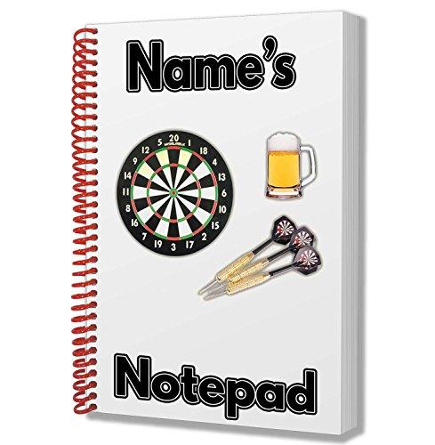 A5-Notizblock, Notizbuch, individuelles Geschenk mit Darts-Motiv, für Zeichnungen, Kritzeleien, zum Notieren von Spielergebnissen in der Kneipe
