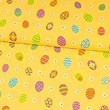 Dekostoff bunte Eier gelb Canvas Ostern - Preis gilt für