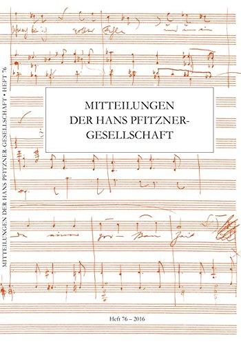 Mitteilungen der Hans Pfitzner-Gesellschaft