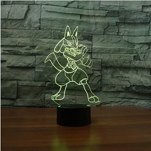 Schlummerleuchten 3D Geschenke Usb Decor Vision Cartoon Boxer Form Fox Luminaria Tischlampe Led 7 Farben Ändern Baby Schlafen Nachtlichter -