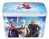 Ondis24 Curver Spielzeugbox für Kinder Kunststoff für A4 Geeignet Disney Motive (Frozen)