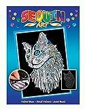 Mammut 8041711 - Sequin Art Blue Weiße Katze, ca. 36 x 27 cm