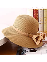 Cappello da Sole da Donna Cappello - Cappello di Paglia da Donna Summer Sun  Visor Pieghevole Anti-UV Travel Sun Hat Beach Hat Fashion Wild… ff64a58f0665