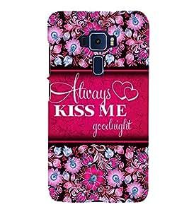 Always Kiss me 3D Hard Polycarbonate Designer Back Case Cover for Asus Zenfone 3 Deluxe ZS570KL