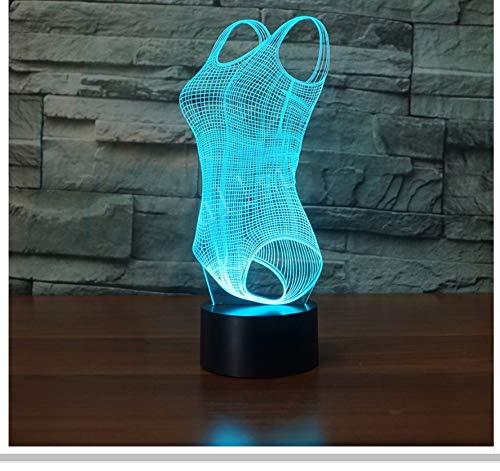 ative Kleidung Modellierung Nachtlichter Led Tischlampe Party Dekoration Badeanzug Luminaria Beleuchtung Geschenk Licht Box ()