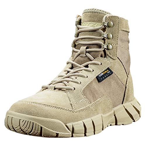 Männer Militärstiefel Kampfstiefel Desert Army Armed Taktische Schuhe Dschungel Praktische Schuhe Patrol Lace-Up Lederschuh,Sandcolor,41