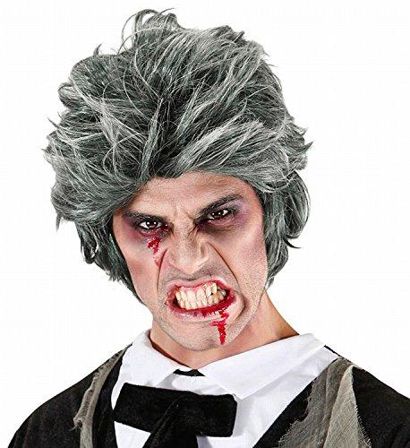 Widmann 06742 - parrucca da zombie uomo in taglia unica