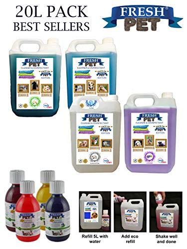 Paquete con 4botes de 5 L de desinfectante, limpiador y...