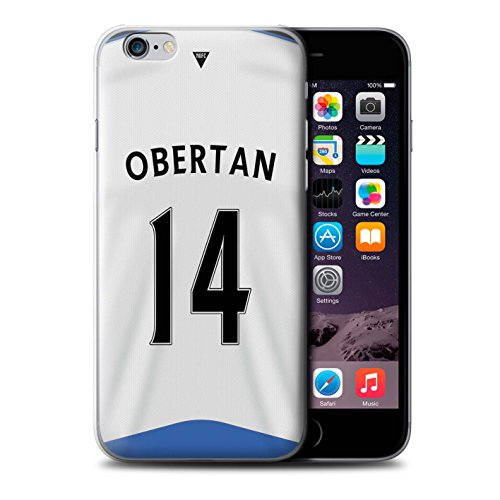 Offiziell Newcastle United FC Hülle / Case für Apple iPhone 6 / Pack 29pcs Muster / NUFC Trikot Home 15/16 Kollektion Obertan