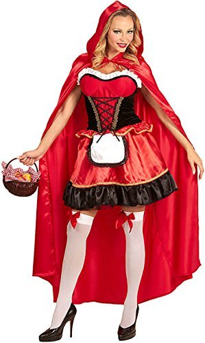 Ladies Deluxe Red Riding Hood Fancy Dress (Kostüme Riding Deluxe Hood Red)