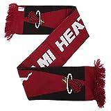 Echarpe avec écusson de basketball Miami Heat (Taille unique) (Rouge/Noir)